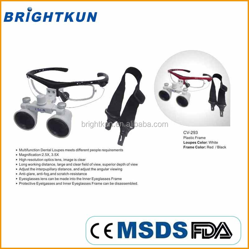 BKU021 portable led headlight magnifying glasses dental and surgical loupes zeiss