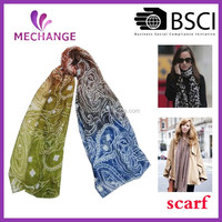 2015 High Quality Most Popular Fashion women Scarf, paisley printing scarf