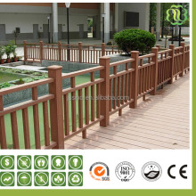 wpc material composite decorative wooden garden fence