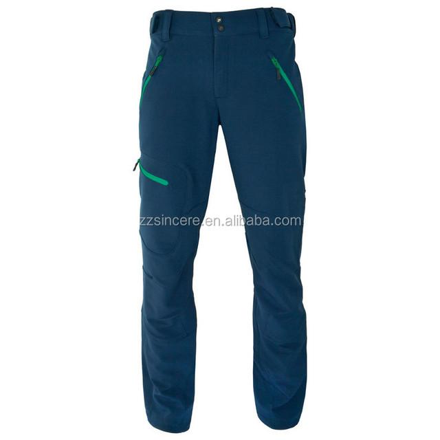 Causal Hiking Trousers Mens Thick Winter Softshell Ski Pants Waterproof