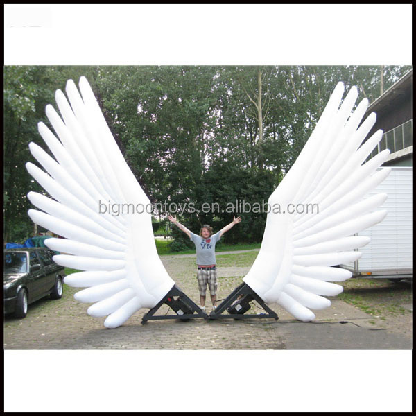 giant inflatable commercial decoration wearing wings for sale