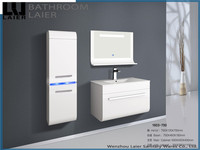 1603 modern design white MDF Particle Board composite board LED bathroom cabinet