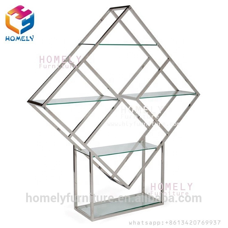 Stainless Steel metal red wine shelf organizer for wine display rack in storage holders