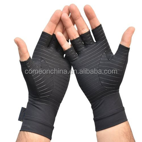 Amazon Ebay Spandex Recovery Compression Half Finger Gloves