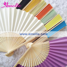 AF149 Silk With Print Customized Logo Cheap Hand Held Fan