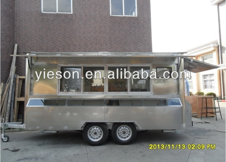 YS-FV450A Stainless Steel frozen donuts two wheel trailer