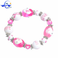 Breast Cancer Awareness Pink Ribbon hope cancer awareness beaded bracelets