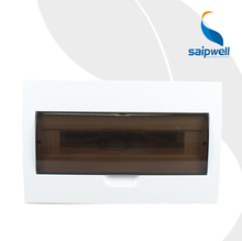 SAIP/SAIPWELL Hot Sales 293*455*76mm 36 Ways Transparent Showerproof Size Of Distribution Board