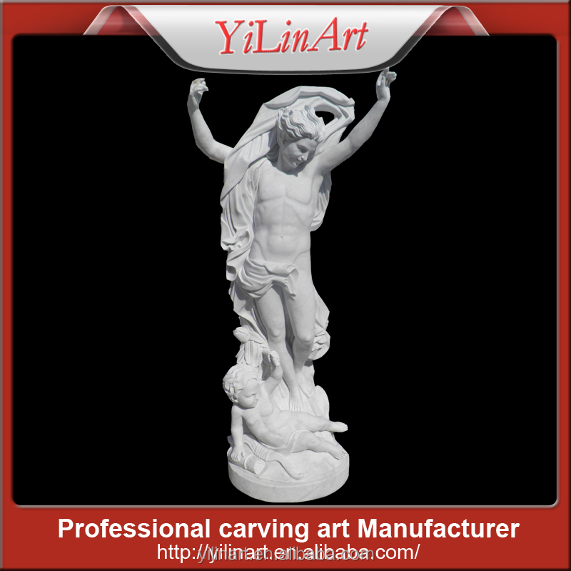 Lovely Natural Mable Stone Family Sculpture(YL-R849)