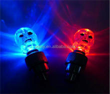 Skull MIX LED Flash Light Neon Lamp Night Bike Car Tire Tyre Wheel Valve Caps