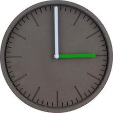 Cement Modern Wall Clock Concrete Black Painted Wall Mounted Clock For Home Decoration