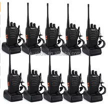 New Retevis H-777 Walkie Talkie UHF 5W 16CH Single Band 2-Way Radio Black(10 pack)
