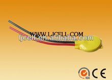 CR2032 CMOS battery with wires cr2032 3V lithium button cell battery CR2032 with lead wire or connector