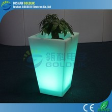 LED planters and pots with Light Color Change GKF-078SQ