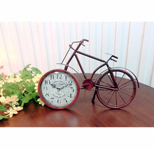 METAL TABLE BIKE CLOCK