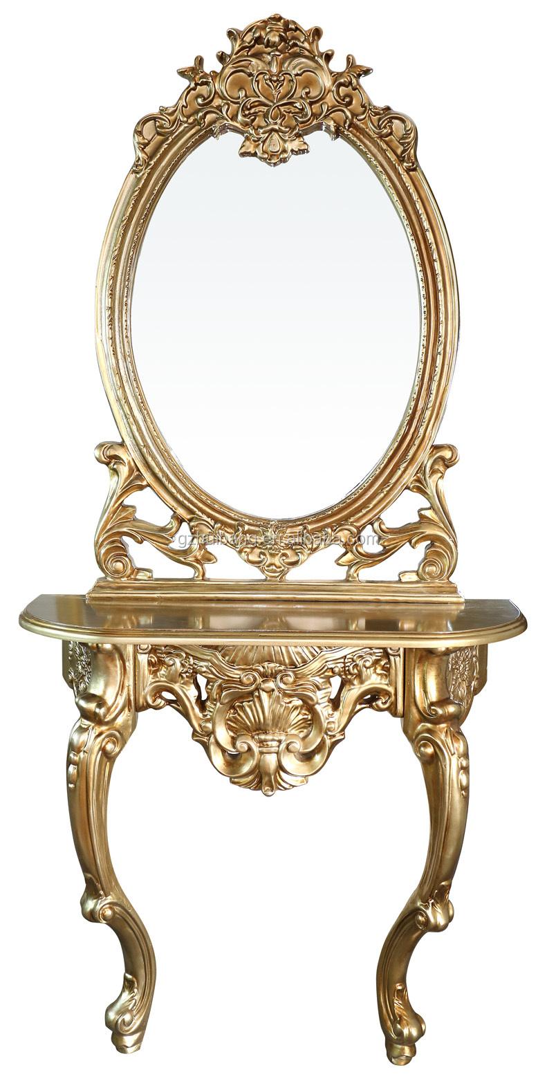White hairdressing hair salon mirror table mirror for Salon table and mirror