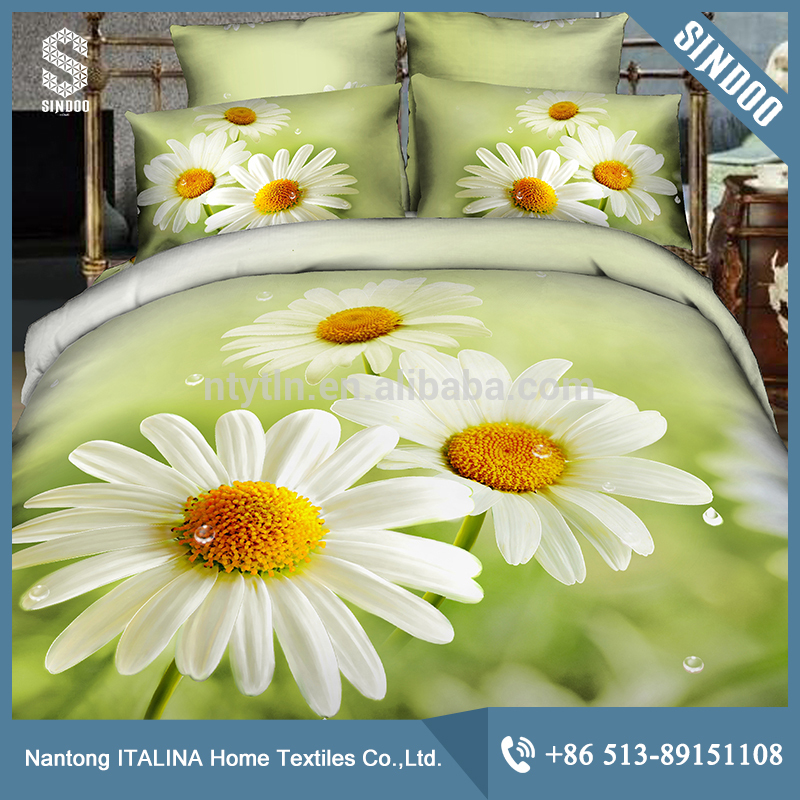 wholesale 3D reactive print 100% cotton bedding set with cheapest price