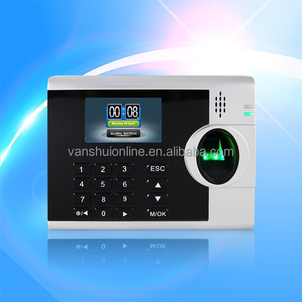 RFID Card Reader Time Attendance support external UPS and Printer output with TCP/IP and RS232/RS485