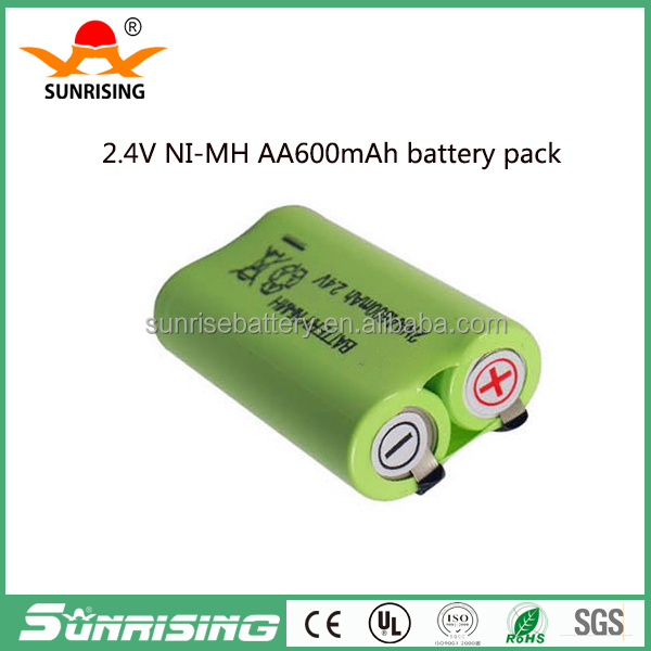 1.2V 2.4V 4.8V 12V 14.4V nimh battery pack /600mah battery pack/ rechargeable nimh battery