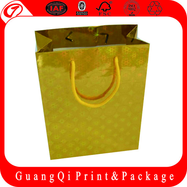 Custom Printed Counter paper shopping bag brand name made in China