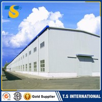 Factory Direct Low Price fast construction light steel building water proof prefabricated grain depot store house barn w