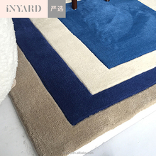Modern simple handmade wool square floor carpet for living room bedroom hotel