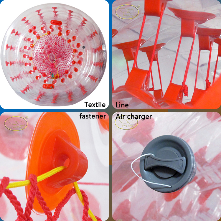 Small cord buckle/D-ring human hamster balls with good quality and optional size