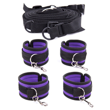 Adult Games Kits Set Hand Cuffs Whip Rope Mask Leather Female Sex Bondage