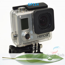 Hot Selling Transparent Skeleton Protective Housing with Lens for Gopro hero 3+ Open Side for FPV GP114