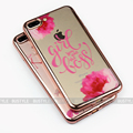 2017 Flamingos 3d Pink Gold side TPU Electroplating phone case for iphone 7 covers for iphone 6s 7 7plus case