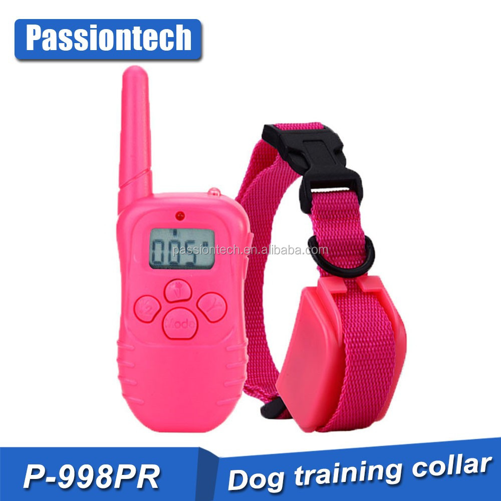 for 1 dog 300M New LCD REMOTE CONTROL 100LV Shock + Vibra Remote Electric Dog Training Collar