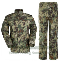 [Wuhan YinSong] High Quality Mandrake Army Military Tactical Cargo SHIRT+PANTS Camouflage Combat Uniform Us Army Kryptek Camo