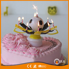 Rotating Fireworks Muscial LED Candles for Birthday Cake And Parties Decor