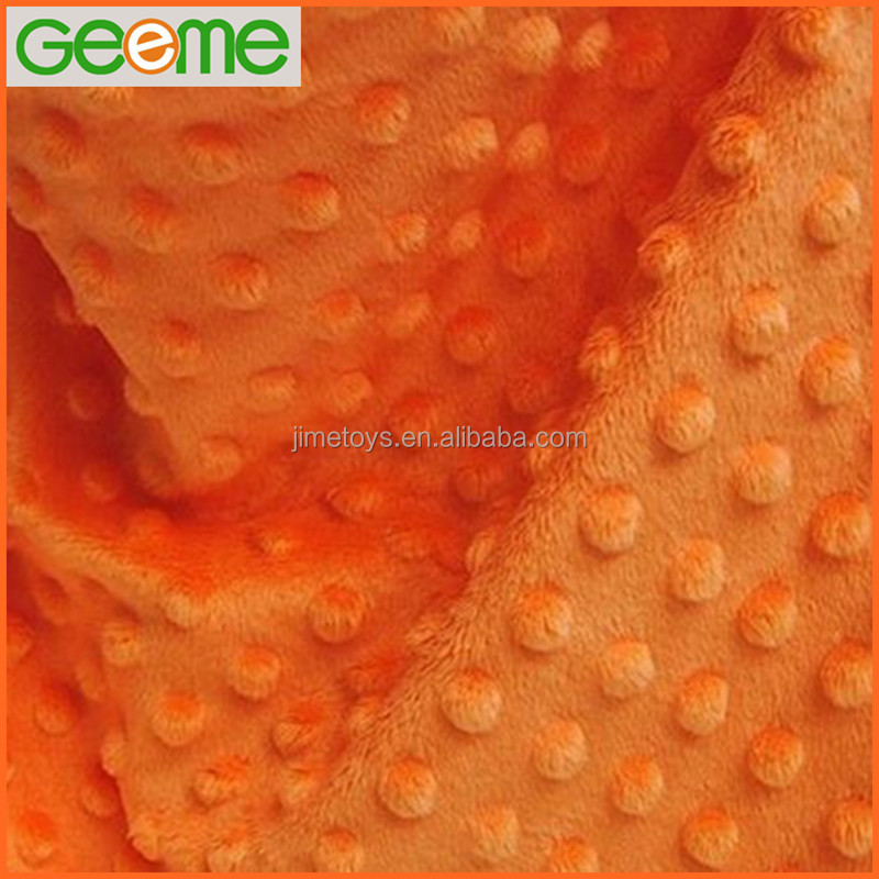 Embossed Dimple Soft Velboa Plush Fabric for Kids