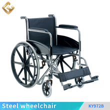 Wide wheels wheelchair foldable for disabled people