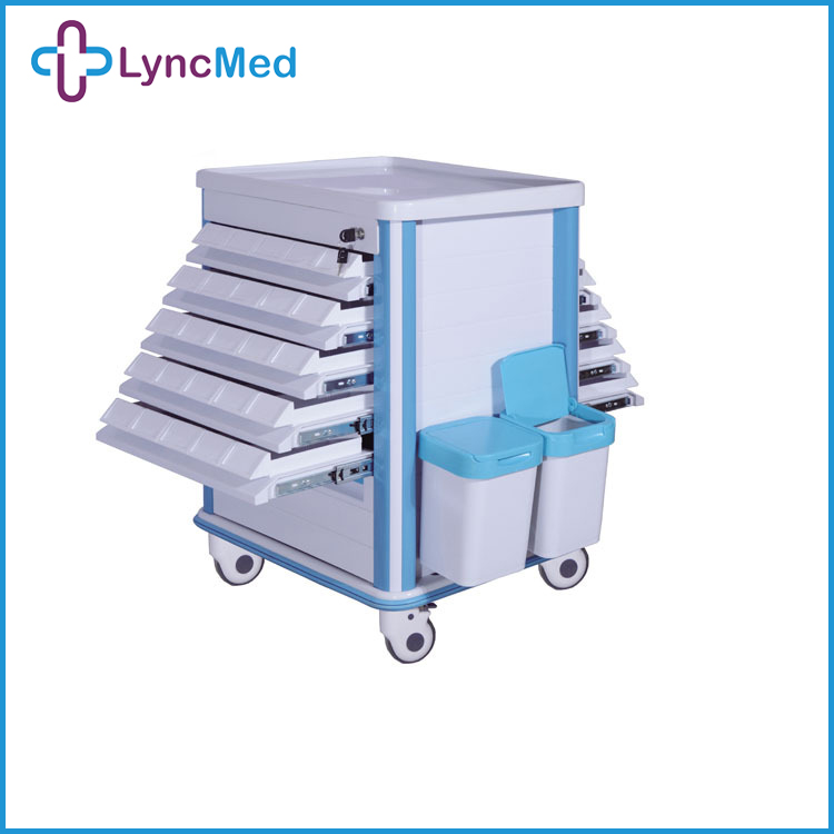 Hospital ABS Trolley, Hospital Emergency Trolleys medical carts