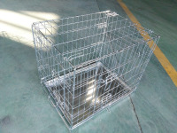hot sales in UK market two doors pet crate zinc plated for small dog
