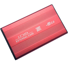 Ultra Thin Sand Blasting USB 2.0 HDD Enclosure 2.5 Inch HDD/SSD External Case