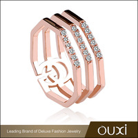 OUXI Design Fashion Rose Gold Female Wedding Ring For Sale