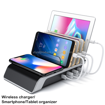 Wholesale OEM Smartphones Organizer Wireless Charger Station for Smartphones