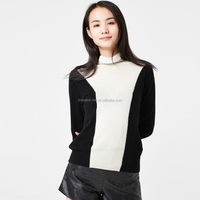 Black With White Fashionable Pullover Cashmere