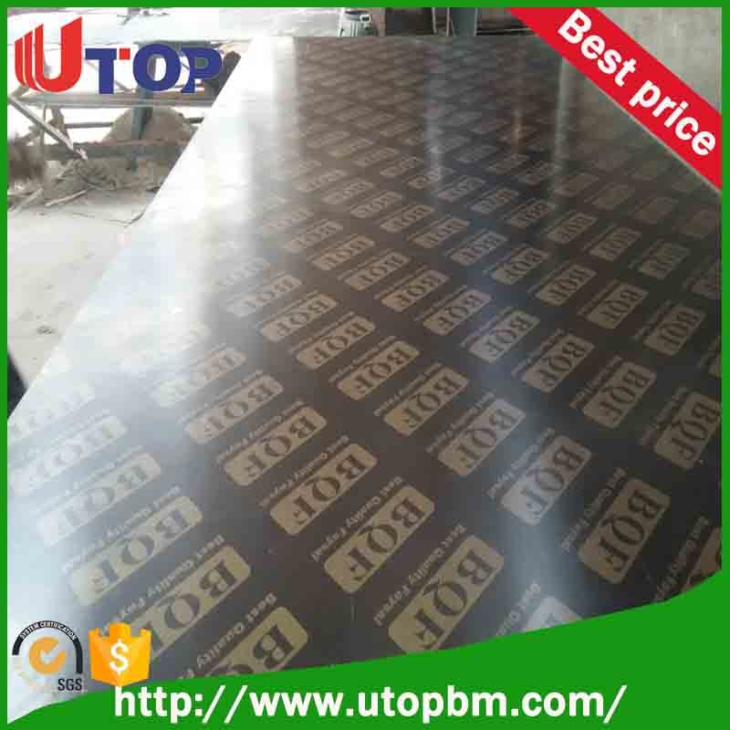 15mm 18mm recycle used finger joint core film faced plywood