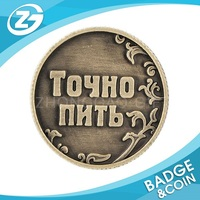 Cheap Custom Promotion Antique Golden Silver Souvenir Replica Stamping Military Metal Coin Manufacturer