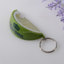 OEM Factory outlet wholesale plastic Lemon shape beer bottle opener keychain