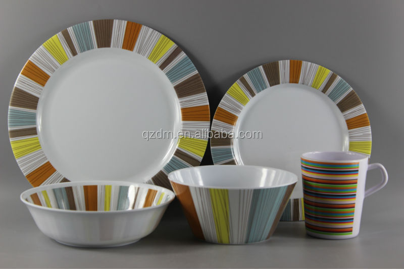 Reusable Plastic Dinnerware Set/Melamine Dinner Set