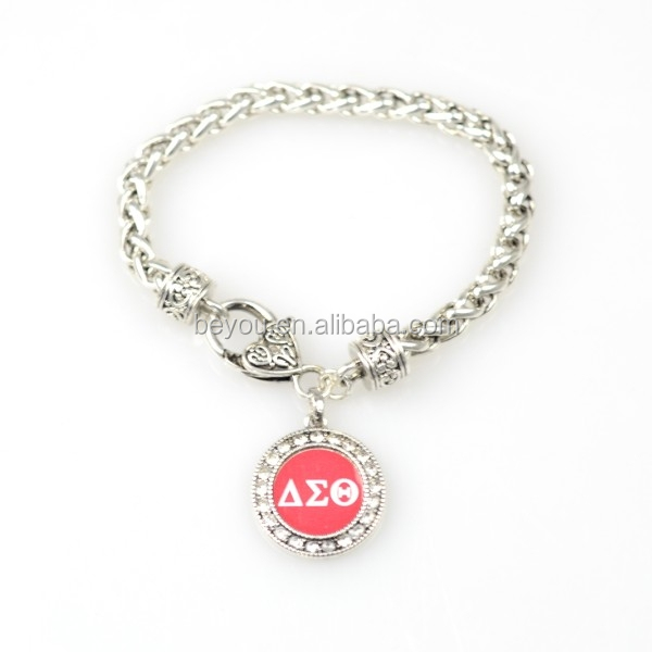 Elephant For  DST AEO  DIY charm stretch  Delta Sigma Theta Sorority Fraternity  multilayer   bracelet Jewelry accessories