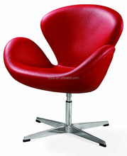 comfortable swivel Arne Jacobse modern dining leisure leather Swan chair
