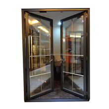 1 inch thickness tempered glass french style door/glass door display cold room