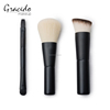 Double end black handle cosmetic makeup brush set with a bag travel set with pouch