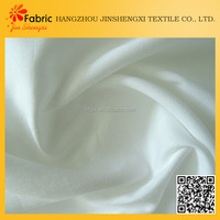 Latest design bedding pure white satin polyester list soft fabrics